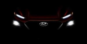 Hyundai Kona: первое изображение нового компактного кроссовера